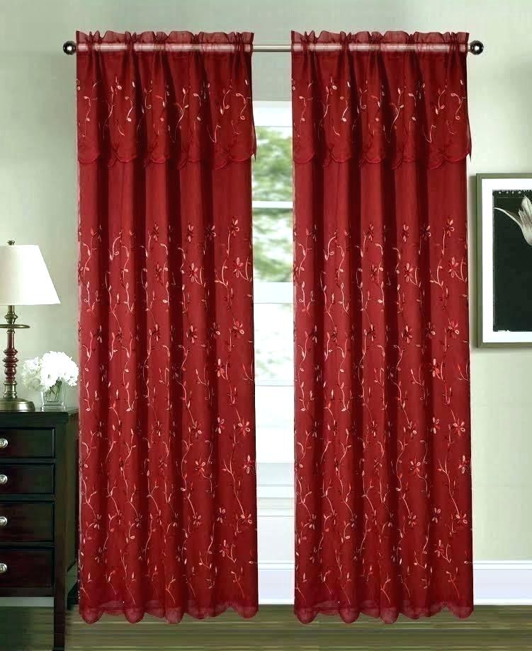 Sheer Red Curtains – Bensonandsons (#35 of 50)