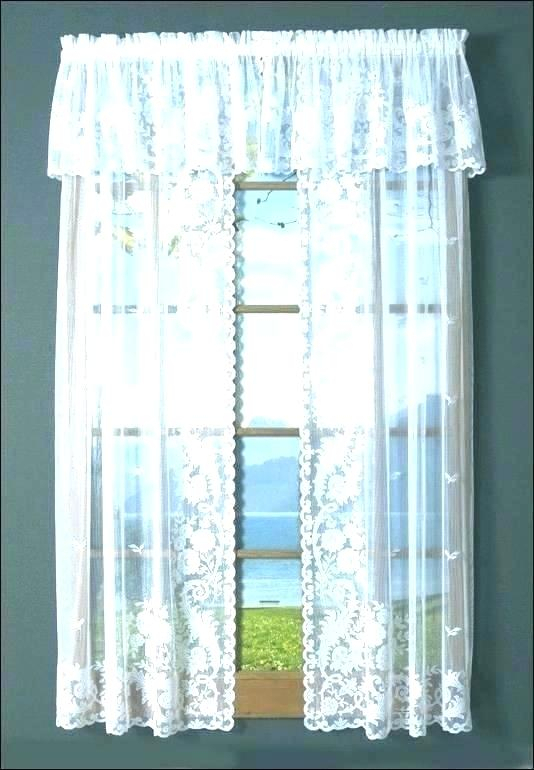 Sheer Ruffled Curtains – Aromascout With Sheer Voile Ruffled Tier Window Curtain Panels (View 49 of 50)