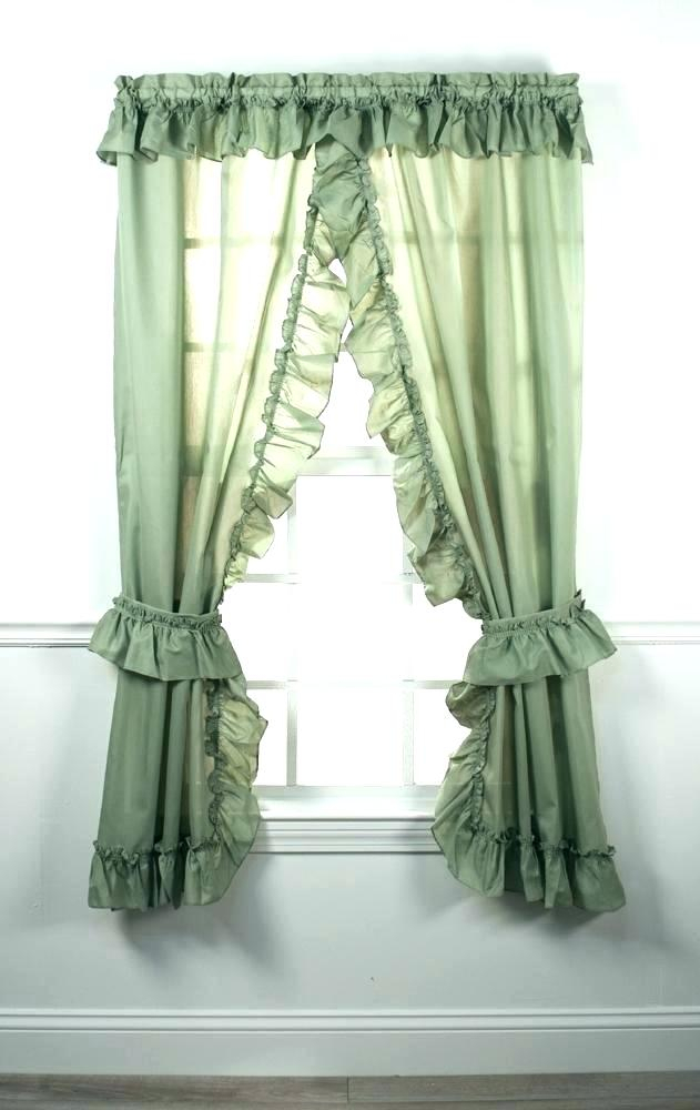 Sheer Ruffled Curtains – Kathymccrohondance Pertaining To Sheer Voile Ruffled Tier Window Curtain Panels (View 18 of 50)