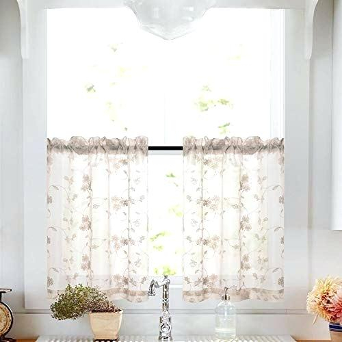 Sheer Taupe Curtains – Techcitystars Inside Overseas Leaf Swirl Embroidered Curtain Panel Pairs (View 28 of 50)