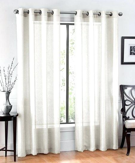 Sheer Voile Curtain Panels – Caleche (View 39 of 50)