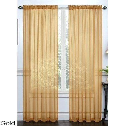 Sheer Voile Curtain Panels – Outofhiding (View 41 of 50)