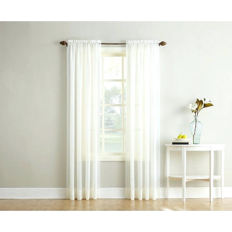 Sheer Voile Curtain Panels – Shockanalyticsllc Intended For Emily Sheer Voile Single Curtain Panels (View 31 of 41)