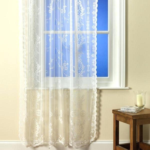 Sheer Voile Curtains Sheer Voile Curtains Eyelet Sheer Voile Intended For Emily Sheer Voile Single Curtain Panels (View 33 of 41)