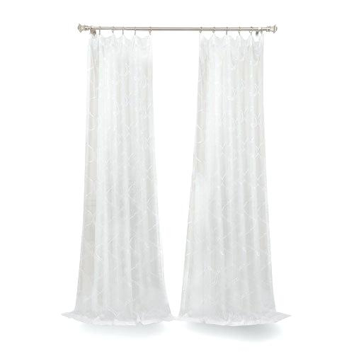 Sheer White Curtains 108 – Shockanalyticsllc For Signature Extrawide Double Layer Sheer Curtain Panels (#41 of 50)