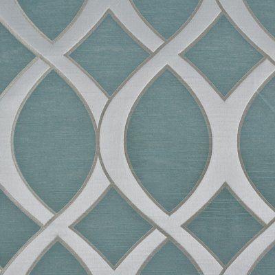Sherry Kline Infinity Jacquard Geometric Semi Sheer Rod With Infinity Sheer Rod Pocket Curtain Panels (#36 of 50)