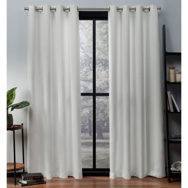 Popular Photo of Oxford Sateen Woven Blackout Grommet Top Curtain Panel Pairs