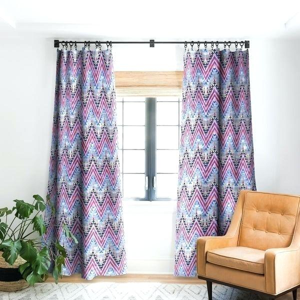 Shop Brown Chevron Blackout Curtain Panel On Sale Free Intended For Chevron Blackout Grommet Curtain Panels (View 41 of 50)