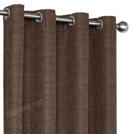 Shop Eclipse Trevi 108 In Chocolate Polyester Grommet Inside Eclipse Trevi Blackout Grommet Window Curtain Panels (View 21 of 26)