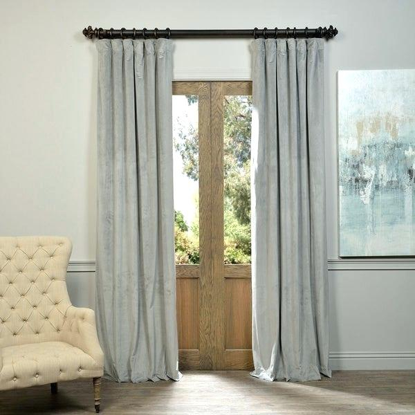Shop Exclusive Fabrics Signature Blackout Curtain Panel In Regarding Signature Ivory Velvet Blackout Single Curtain Panels (#35 of 50)