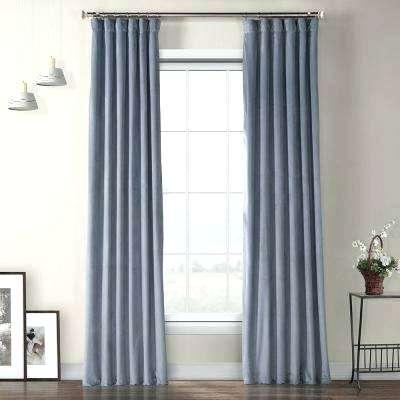Shop Exclusive Fabrics Signature Blackout Curtain Panel In Within Signature Blackout Velvet Curtains (#26 of 50)