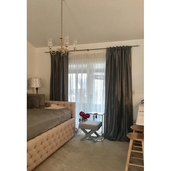 Shop Exclusive Fabrics Storm Grey Vintage Faux Textured With Storm Grey Vintage Faux Textured Dupioni Single Silk Curtain Panels (View 22 of 50)