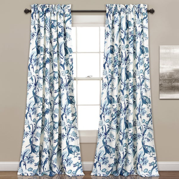 Shop Lush Decor Dolores Room Darkening Floral Curtain Panel Regarding Dolores Room Darkening Floral Curtain Panel Pairs (View 28 of 35)
