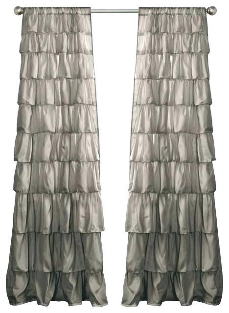 Shop Lush Decor Ruffle Window Curtain Panel Pair X Free With Regard To Ruffle Diamond Curtain Panel Pairs (View 17 of 50)