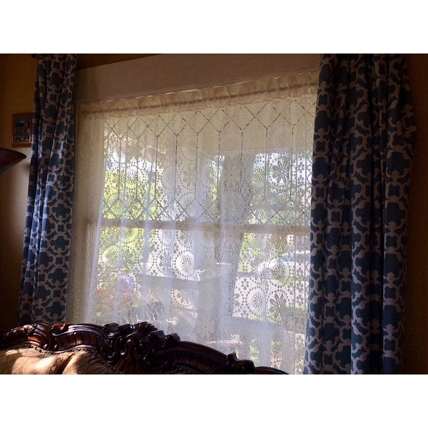 Popular Photo of Luxurious Old World Style Lace Window Curtain Panels