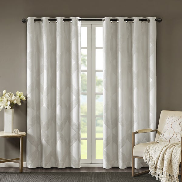 Popular Photo of Sunsmart Abel Ogee Knitted Jacquard Total Blackout Curtain Panels