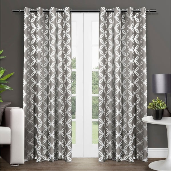 Shop The Curated Nomad Sloat Metallic Geometric Grommet Top Throughout Softline Trenton Grommet Top Curtain Panels (View 49 of 50)