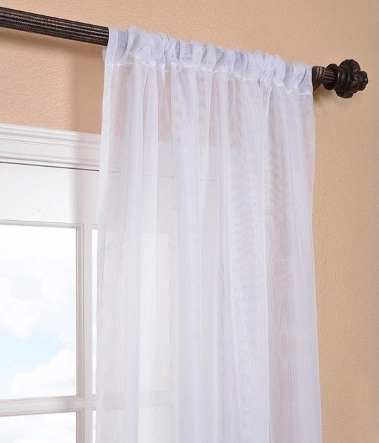 Shoptagr | Signature White Sheer Curtain Single Panel, 50 With Regard To Double Layer Sheer White Single Curtain Panels (View 41 of 50)