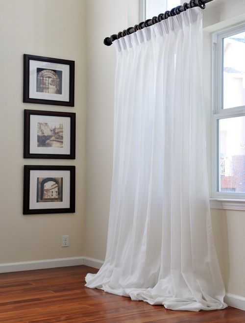 Signature (Double Layered) Sheer Curtains | Home Design Or Throughout Signature White Double Layer Sheer Curtain Panels (View 6 of 50)
