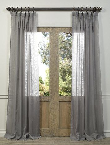 Signature Double Layered White Sheer Curtain | Spilting A In Signature White Double Layer Sheer Curtain Panels (View 4 of 50)