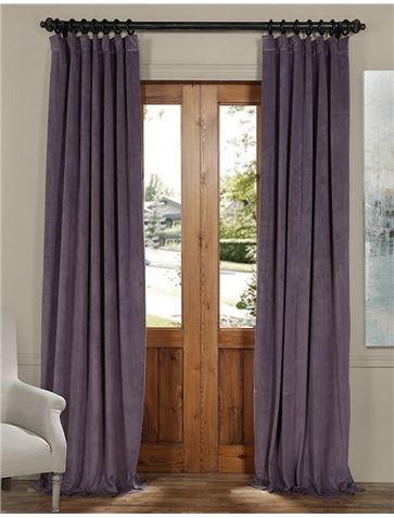 Signature Fresh Violet Blackout Velvet Curtain   Signature With Regard To Signature Blackout Velvet Curtains (#32 of 50)