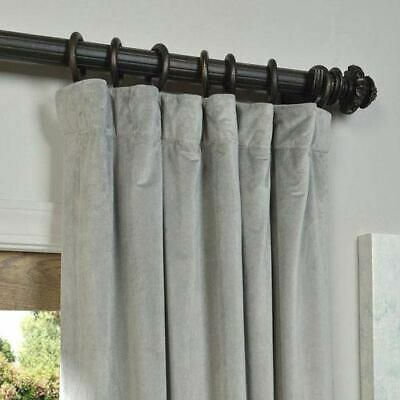 Signature Ivory Blackout Velvet Pole Pocket Single Panel Throughout Signature Ivory Velvet Blackout Single Curtain Panels (View 11 of 50)