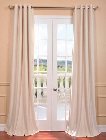 Signature Ivory Grommet Blackout Velvet Curtain – Firemol Inside Signature Blackout Velvet Curtains (#36 of 50)