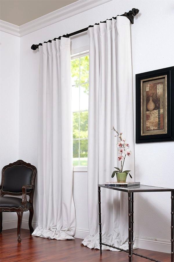 Signature Off White Blackout Velvet Pole Pocket Curtains 63 Throughout Signature Blackout Velvet Curtains (#39 of 50)