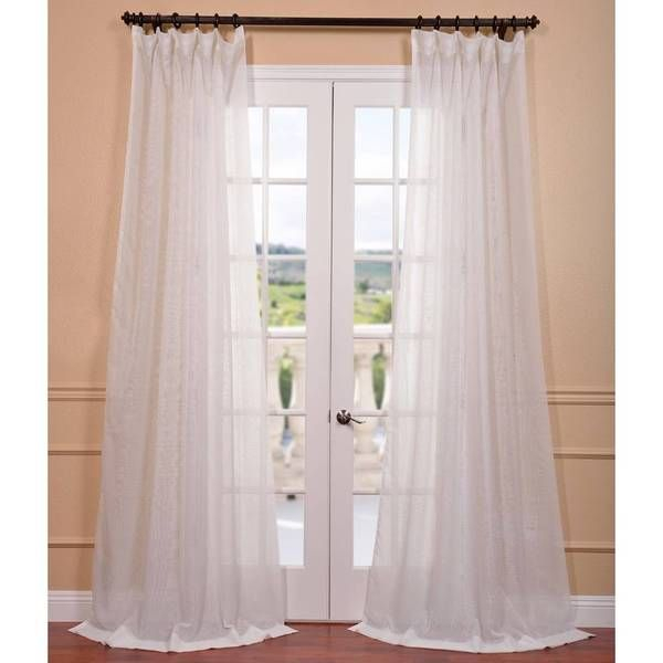 Popular Photo of Signature White Double Layer Sheer Curtain Panels