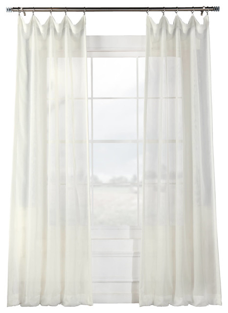 "Signature Off White Sheer Curtain Single Panel, 50""x108"" For Double Layer Sheer White Single Curtain Panels (View 42 of 50)"