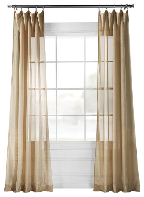 Signature Sheer Curtain Pertaining To Signature Extrawide Double Layer Sheer Curtain Panels (#45 of 50)
