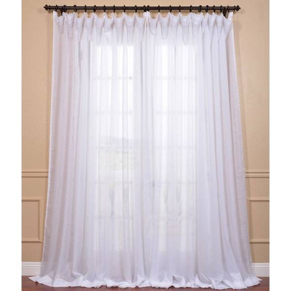 Popular Photo of Signature Extrawide Double Layer Sheer Curtain Panels
