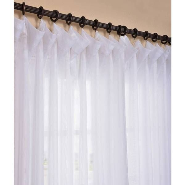 Signature White Extra Wide Double Layer Sheer; This Double With Regard To Signature White Double Layer Sheer Curtain Panels (View 9 of 50)