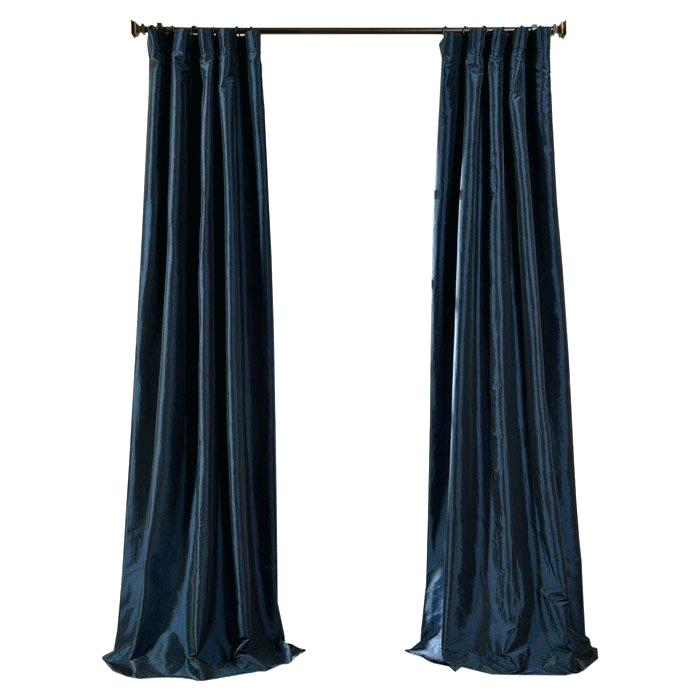 Silk Drapery Panels Silk Curtain Panel Solid Faux Silk With Regard To Faux Silk Taffeta Solid Blackout Single Curtain Panels (View 45 of 50)