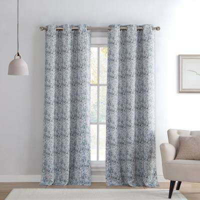 Silver – Abstract – Curtains & Drapes – Window Treatments Regarding Abstract Blackout Curtain Panel Pairs (View 37 of 46)