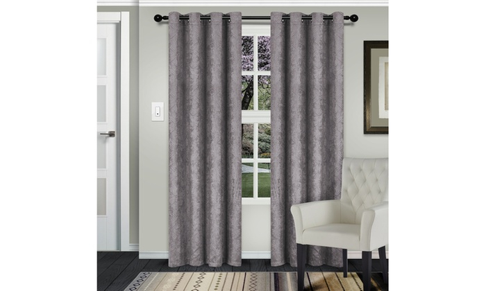 Silver Waverly Insulated Thermal Blackout Grommet Curtain For Insulated Grommet Blackout Curtain Panel Pairs (View 41 of 50)