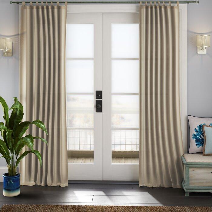 Sinead Indoor/outdoor Solid Room Darkening Tab Top Single Curtain Panel Pertaining To Matine Indoor/outdoor Curtain Panels (#31 of 50)