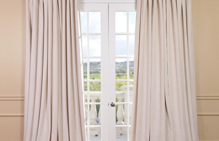 Single Bedroom Curtain Blackout Curtains Minute Lane Thermal In Signature Ivory Velvet Blackout Single Curtain Panels (#46 of 50)