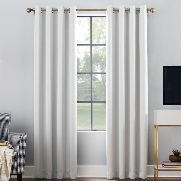 Single Panel Blackout Curtains | Wayfair Intended For Warm Black Velvet Single Blackout Curtain Panels (#37 of 48)