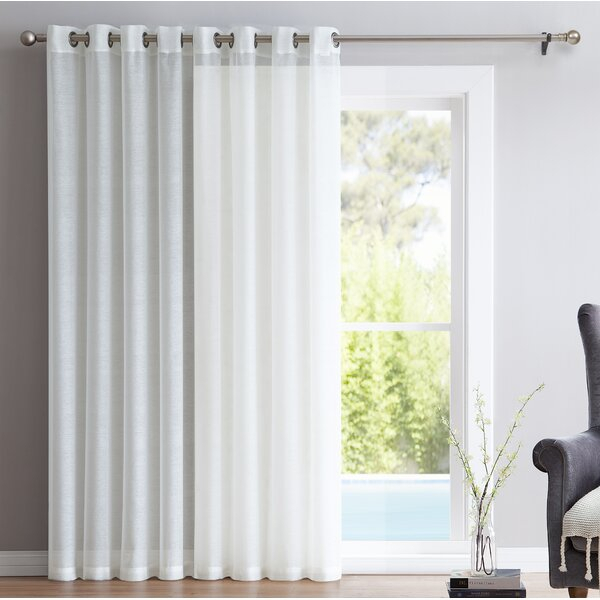 Single Panel Curtain For Patio Door | Flisol Home For Emily Sheer Voile Solid Single Patio Door Curtain Panels (View 43 of 50)