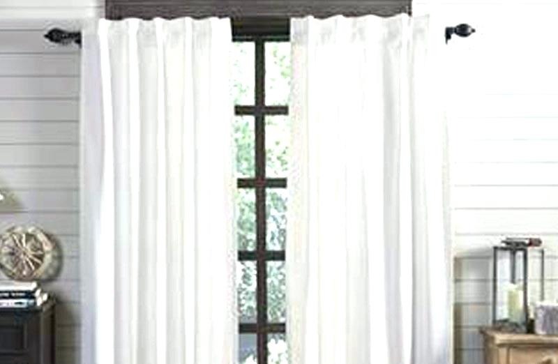 Single Panel Curtain Rod On Window For Patio Door One Per Within Infinity Sheer Rod Pocket Curtain Panels (#38 of 50)