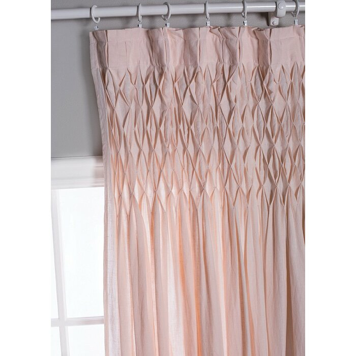 Single Solid Color Semi Sheer Pinch Pleat Curtains In Solid Cotton Pleated Curtains (#41 of 50)