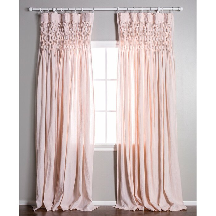 Single Solid Color Semi Sheer Pinch Pleat Curtains Inside Solid Cotton Pleated Curtains (#42 of 50)