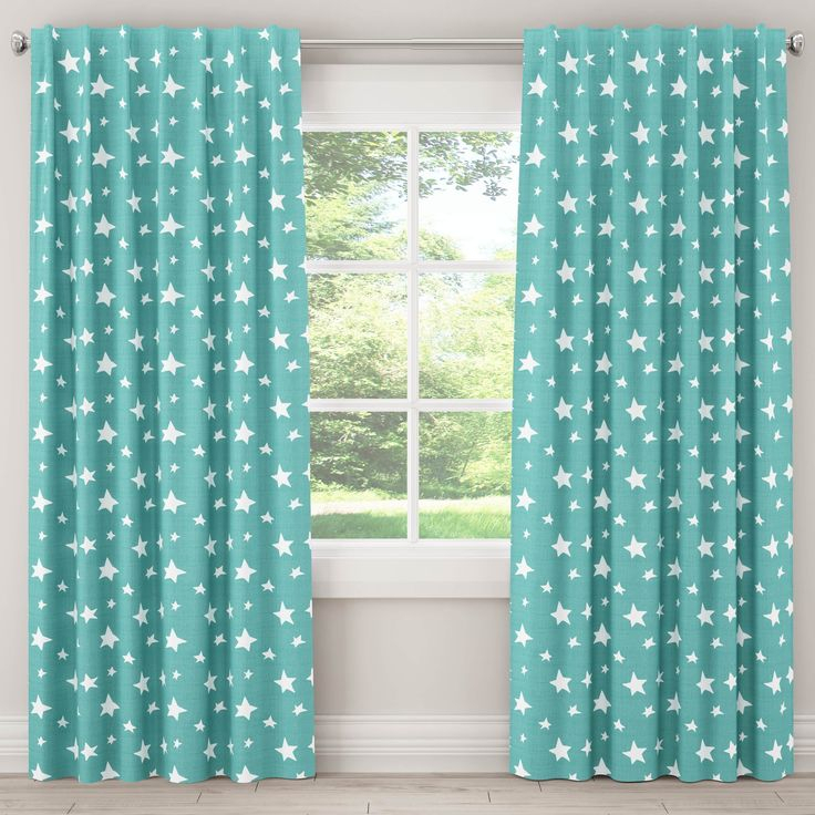 Skyline Furniture Unlined Curtains In Stars (Yellow – 63 In Grainger Buffalo Check Blackout Window Curtains (View 37 of 50)