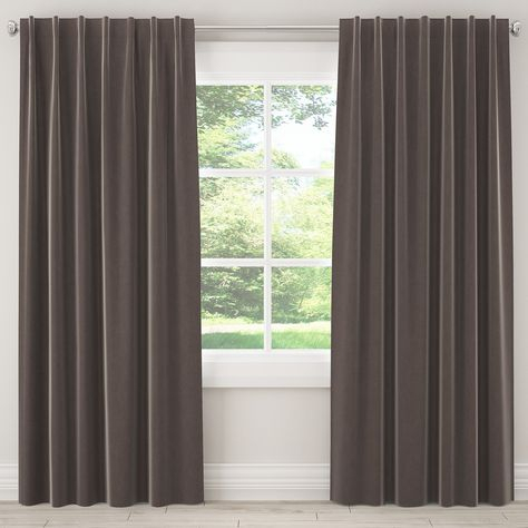 Skyline Furniture Velvet Single Panel Rod Pocket Tab For Silvertone Grommet Thermal Insulated Blackout Curtain Panel Pairs (View 25 of 35)