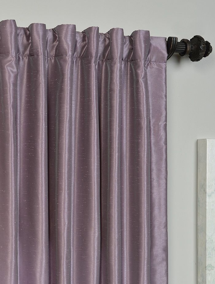 Smokey Plum Vintage Textured Faux Dupioni Silk Curtain Throughout Vintage Textured Faux Dupioni Silk Curtain Panels (#50 of 50)