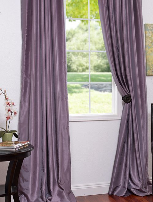 Smokey Plum Vintage Textured Faux Dupioni Silk Curtains Pertaining To Silver Vintage Faux Textured Silk Curtain Panels (View 44 of 50)