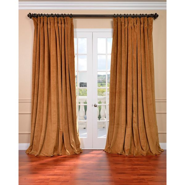 So Hard To Find In Dark Green!   Exclusive Fabrics Amber With Regard To Luxury Collection Faux Leather Blackout Single Curtain Panels (#35 of 42)
