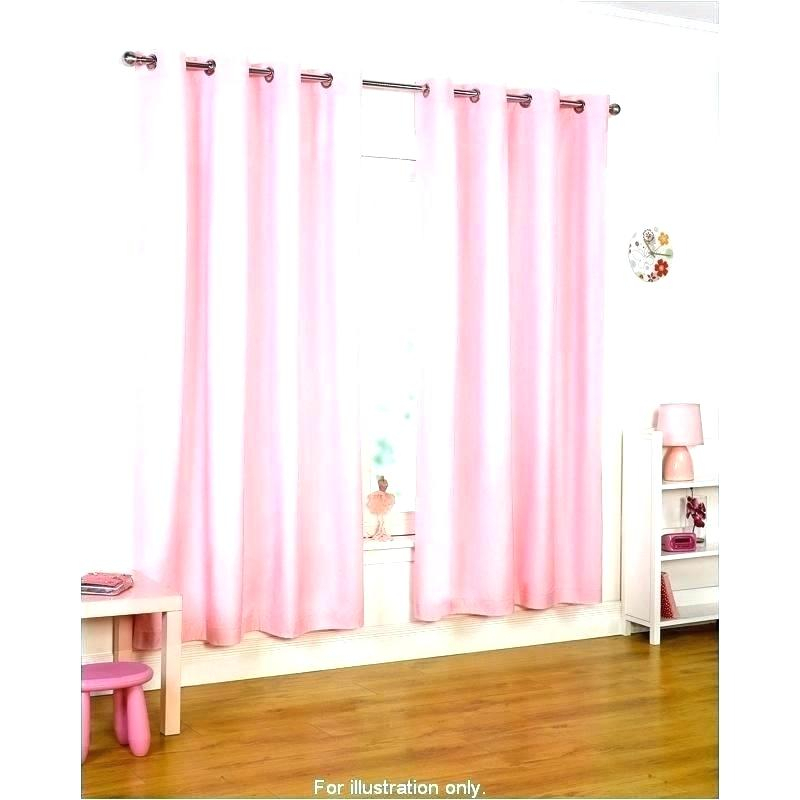 Soft Pink Blackout Curtains In Elrene Aurora Kids Room Darkening Layered Sheer Curtains (View 40 of 40)