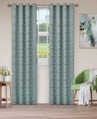Soft Quality Woven, Bohemian Trellis Blackout Thermal Pertaining To Superior Leaves Insulated Thermal Blackout Grommet Curtain Panel Pairs (#37 of 50)